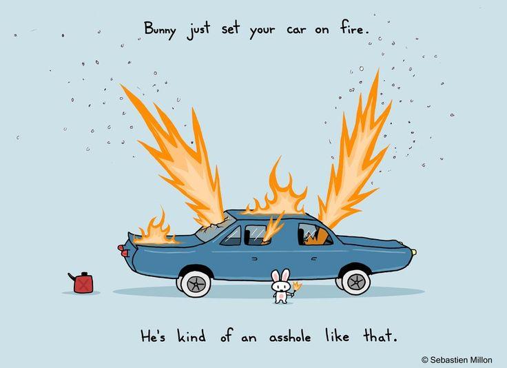 Your car's on fire by sebreg.deviantart.com on @DeviantArt