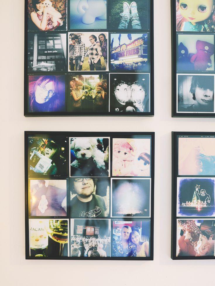 Instagram Prints In Ikea Gladsax Frames Insta Decor