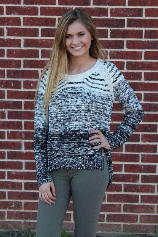 White + Black Marble Sweater - Luna Boutique