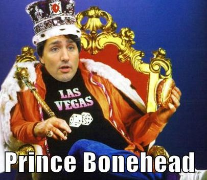 The only one more proud of his abject stupidity is his mother, Queen Bonehead.