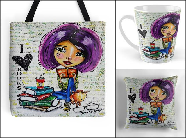 With Love for Books: I ❤ Books Tote Bag, Mug & Pillow Giveaway