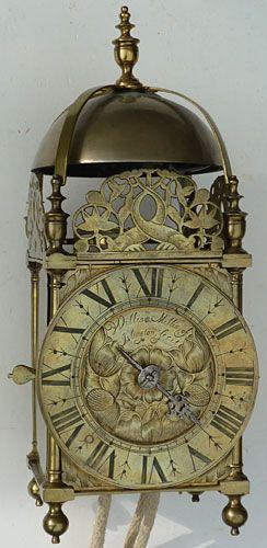 Charles II period lantern clock by 'William Millin of Islington fecit'