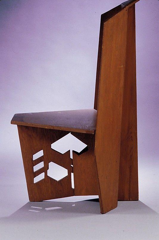 Side Chair. Hanna House / Honeycomb House. 1936. Stanford, California. Usonian. Frank Lloyd Wright.