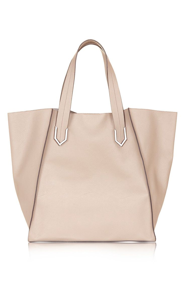 This nude Topshop tote is the perfect all-purpose bag. Roomy and cute? Yes, please.