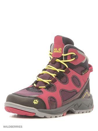 Jack Wolfskin Ботинки CROSSWIND WT TEXAPORE MID K  — 6490р. ---- Полувысокие, спортивные зимние туристические ботинки с водостойкой мембраной.