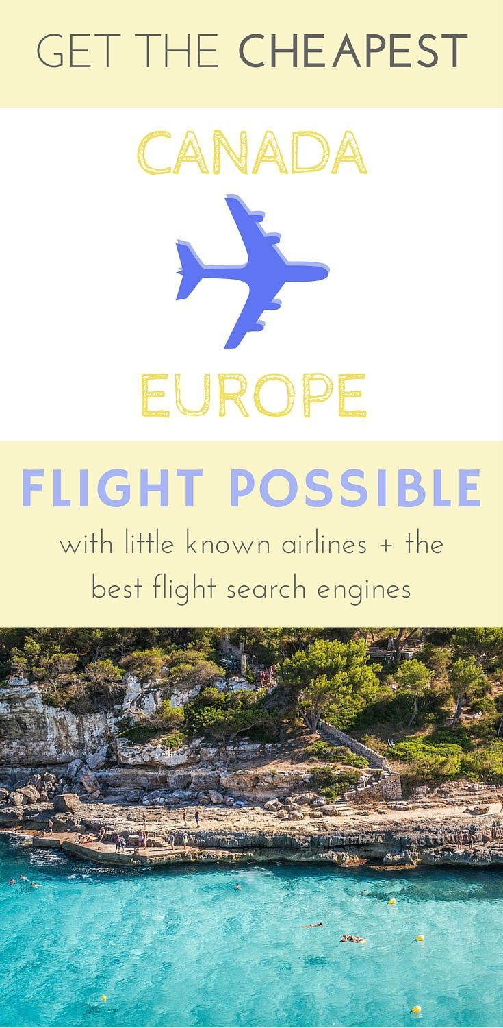 Little known airlines + the best search enginges for cheap flights Canada to Europe: