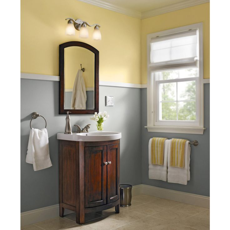 Shop allen roth moravia sable integral single sink - Lowes single sink bathroom vanity ...