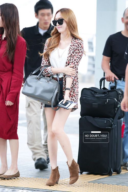 Snsd Jessica Korean Stars Airport Fashion Casual Style Pinterest Posts Snsd And