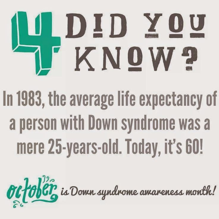 This Shows a the life expectancy of a person with Down syndrome in the past, and the present.
