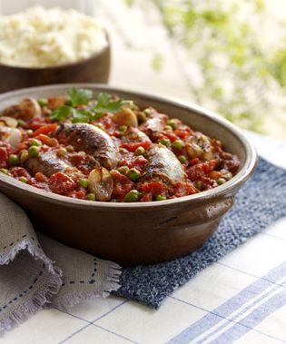 Hearty sausage and tomato casserole