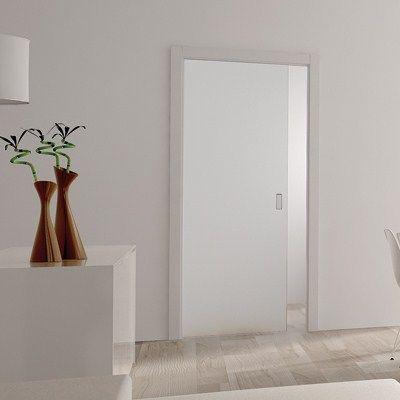 Eclisse 8mm Glass Single Pocket Door Kit - 100mm Wall - 762 x 1981mm Door Size at IronmongeryDirect