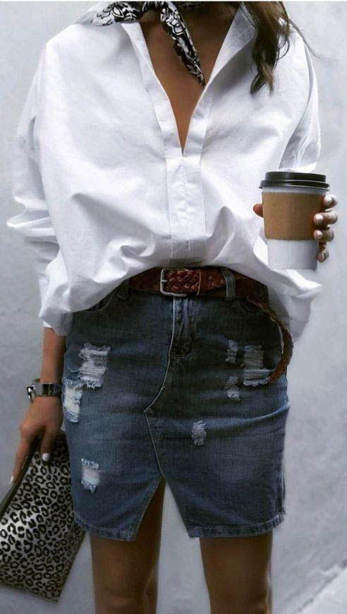 Beste weiße Hemden / Streetstyle Mode #whiteshirt #fashion