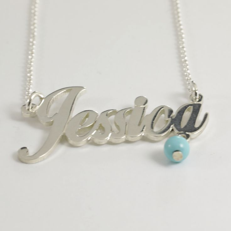 """Sterling Silver """"Jessica"""" Name Necklace"""