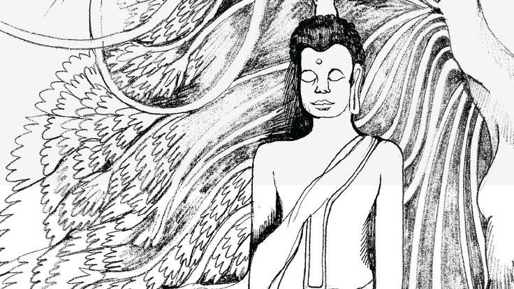meditation relaxed buda draw
