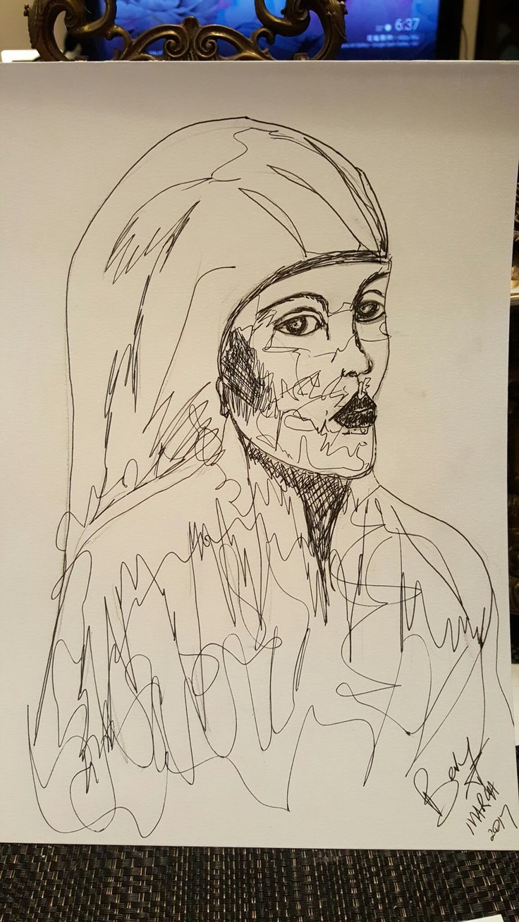 Scribble lady