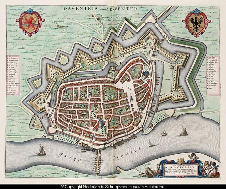 Plattegrond Deventer (J. Blau, 1652)