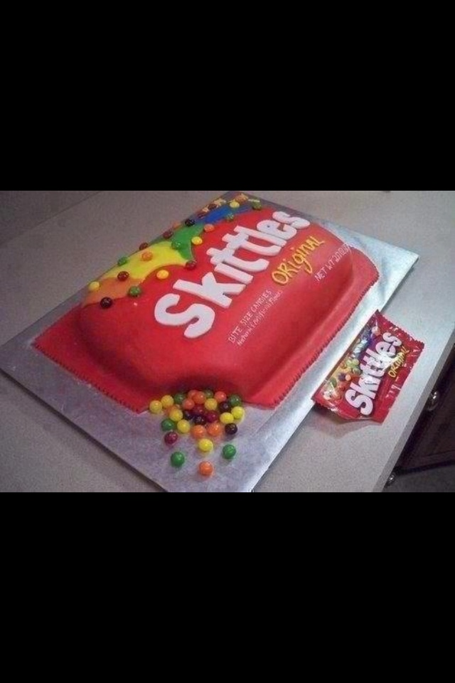 17 Best Images About Skittle Cake Ideas On Pinterest