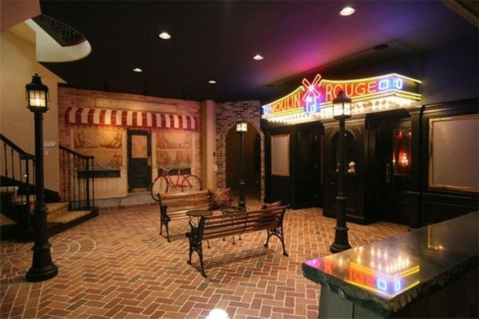 Mardi gras themed basement how fun basements finishedbasements basements - Basement game room ideas ...