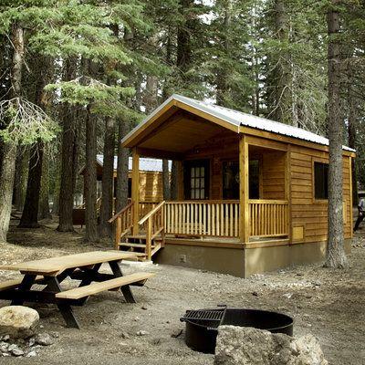 Manzanita Lake Camping Cabins, Lassen Volcanic National Park, CA