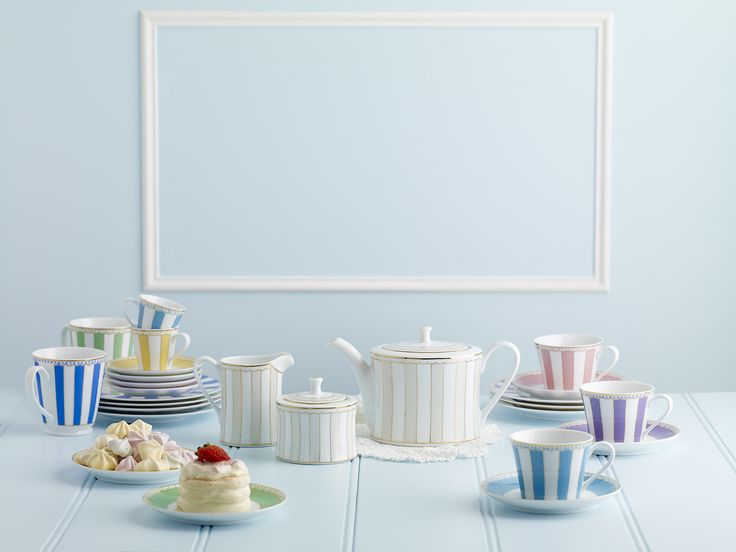 Noritake Carnivale tea pot, sugar bowl and creamer. Carnivale range is perfect for your tea party.