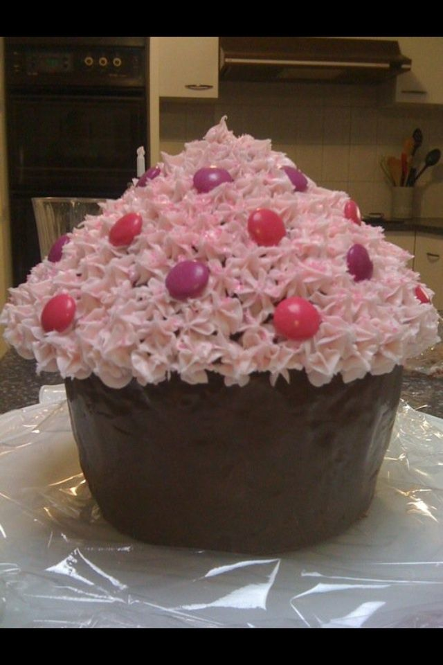 Emily's giant cupcake filled with Lollies