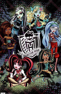 (22x34) Monster High Art Poster Print $1.10