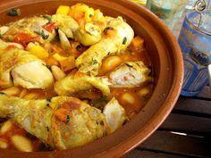 Katrins favoriete recepten: Tajine met kip, pompoen en boterbonen