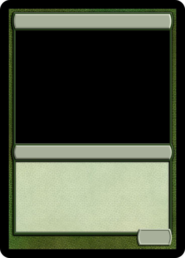 mtg card frame template