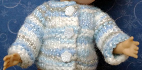 """A special handknit variegated sweater for Vogue GINNY, Muffie, Madame Alexander 7.5"""" DoLLs CLOTHING Doll Clothes Winter SALE!"""