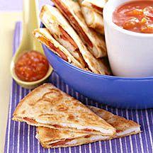 Quésadillas met kaas voor het ontbijt