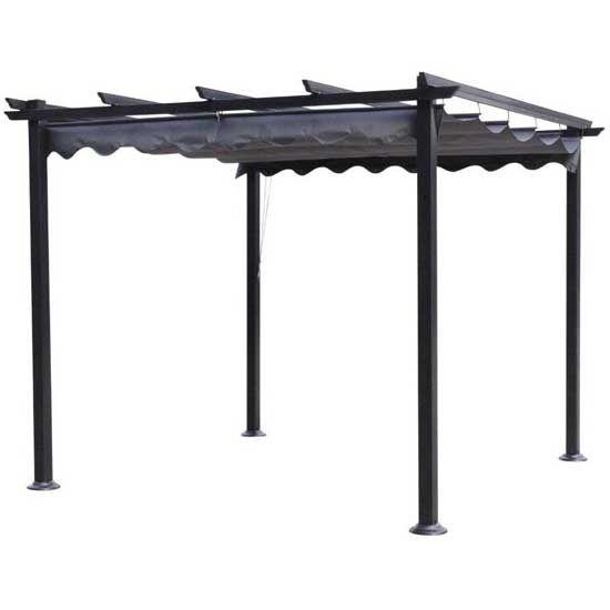 Pergola rectangulaire cordoba toit rétractable 4 x 3 m