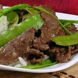 Asian Beef with Snow Peas | With thin beef strips and thin snow peas, this stir-fry cooks in just 10 minutes.
