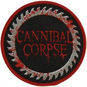 Cannibal Corpse Saw Blade Embroidered Patch