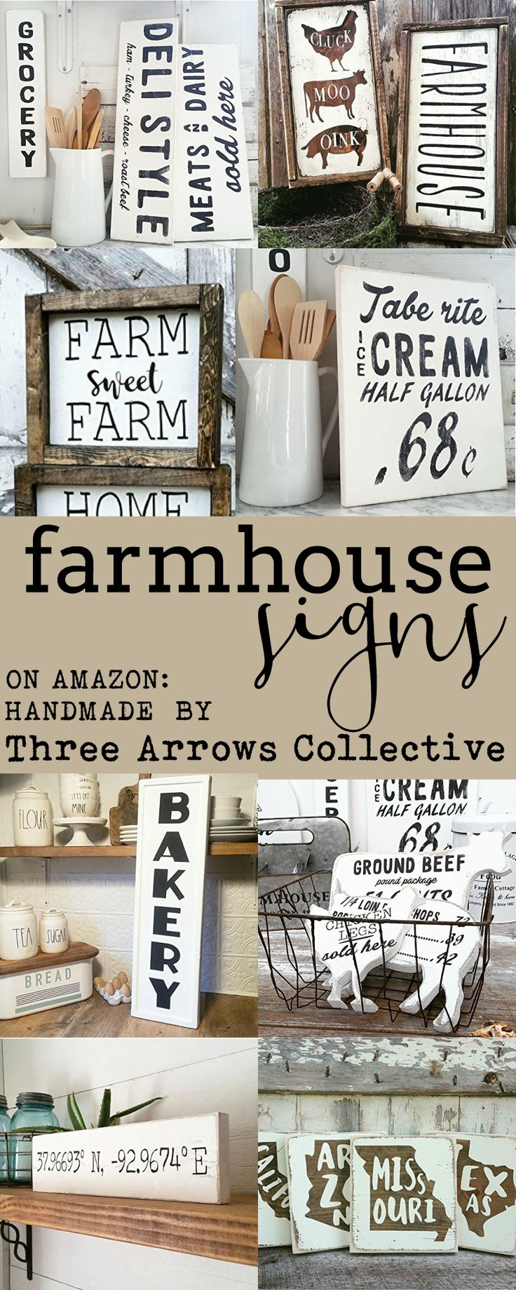 Amazon has this section on their site of handmade products. My favorite, of course, is the rustic and farmhouse items here. Three Arrows Collective is a small