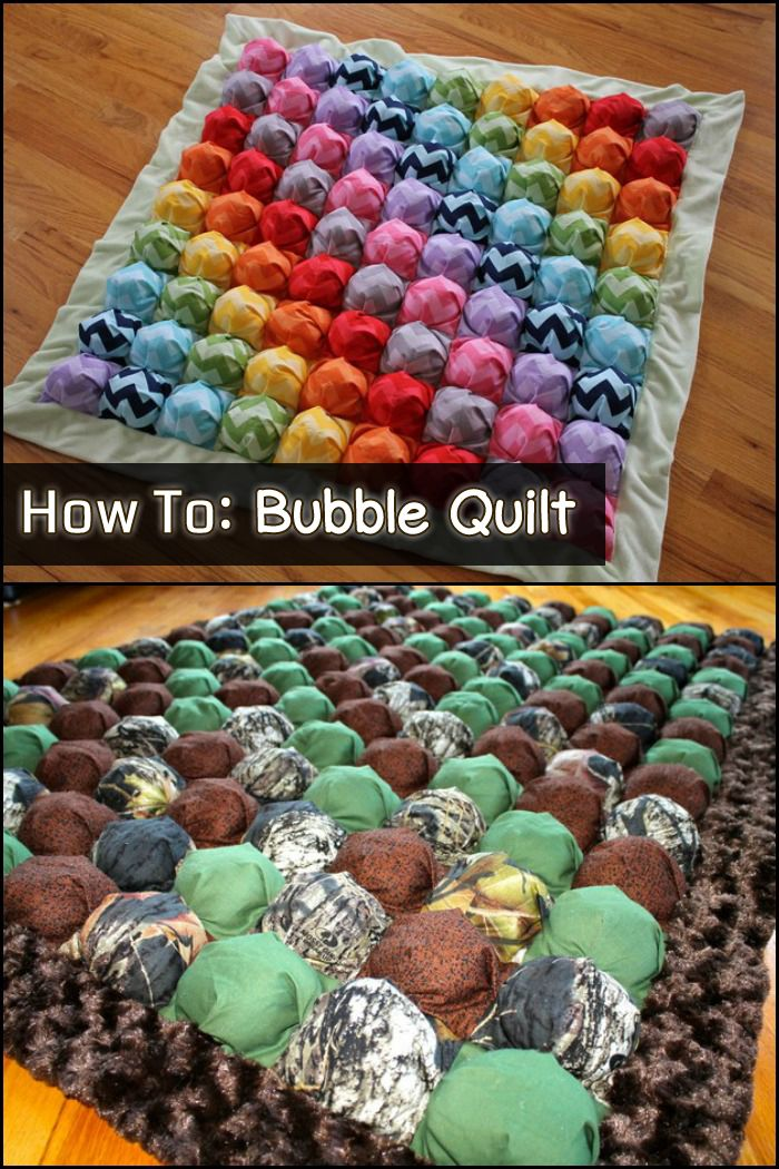 Cute, easy, and cheap! If you're into sewing projects, a bubble quilt will make a great DIY gift for friends and family!