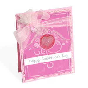 Embossed Happy Valentine's Day Card