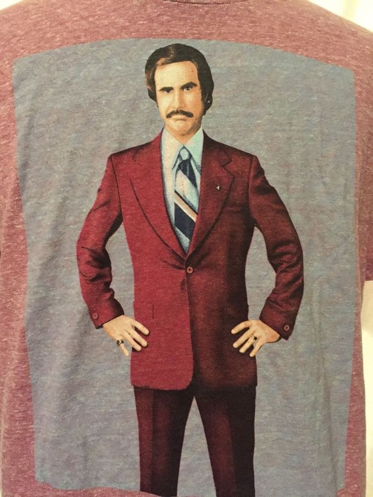 Anchorman Ron Burgundy Old Navy Collectabilitees Red Graphic T-Shirt Large #OldNavy #GraphicTee