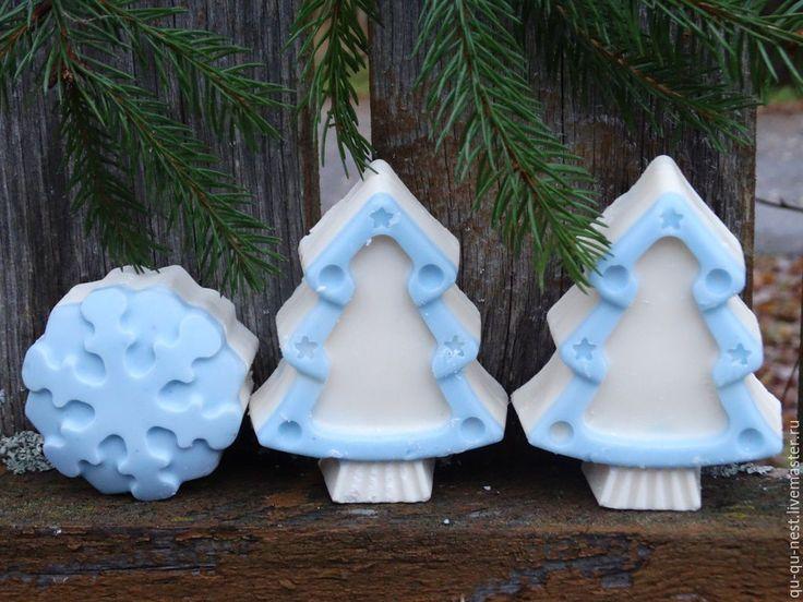 Купить Буратино - Мыло-сюрприз к новому году (Новогоднее мыло - гадание) - голубой, елка, ель