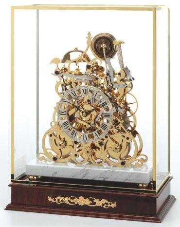 Three Train Skeleton Clock Magnificent Timepieces
