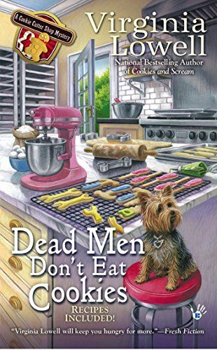 Dead Men Don't Eat Cookies (A Cookie Cutter Shop Mystery) by Virginia Lowell http://www.amazon.com/dp/0425260712/ref=cm_sw_r_pi_dp_K-jQub0YT5BHQ