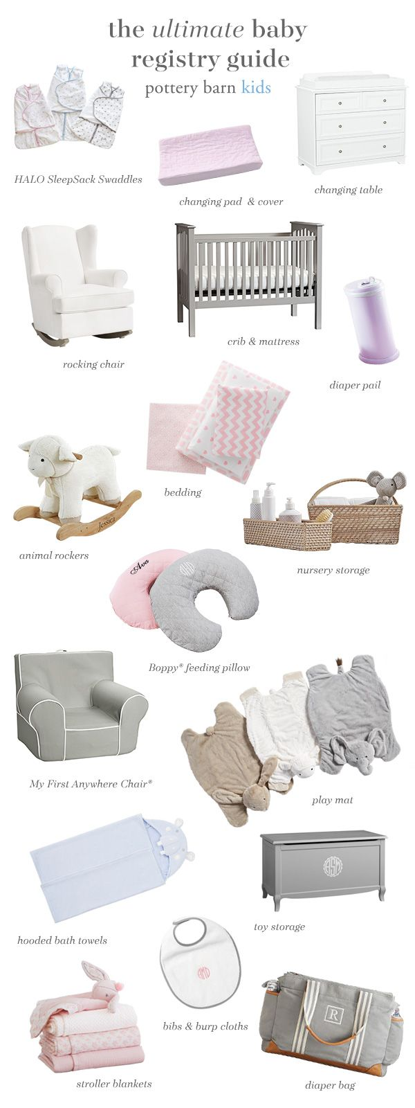 Register for all the things you need to welcome baby home into an inviting and safe space. From sturdy cribs to plush play mats to rocking chairs that can easily transition back into the living room, here's everything you need to bring home your new bundle.
