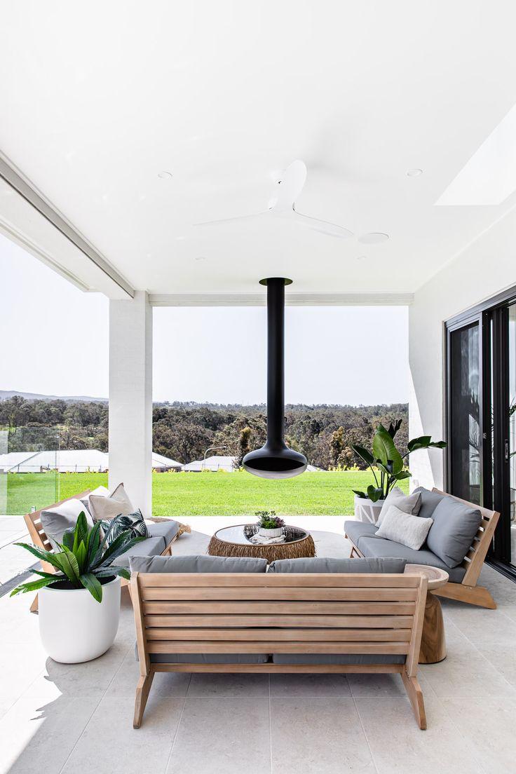 Modern Outdoor Living, Outdoor Living Rooms, Outdoor Spaces, Living Spaces, Outdoor Living Furniture, Outdoor Tiles, Outdoor Decor, Alfresco Designs, Alfresco Area