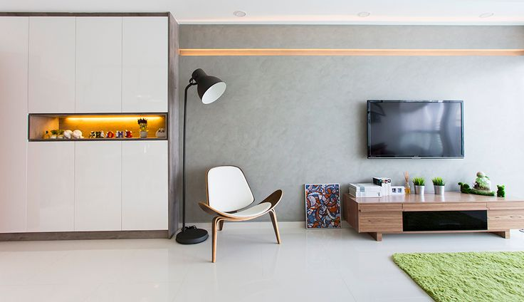 concrete wall ... would the build in cupboard be useful in the long run? hdb interiors: Photo