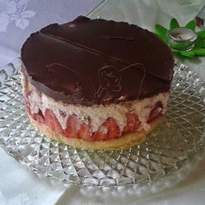 Muttis Geburtstag - Torte 2: Erdbeer-Joghurette Torte mit Schokoüberzug   buttercup