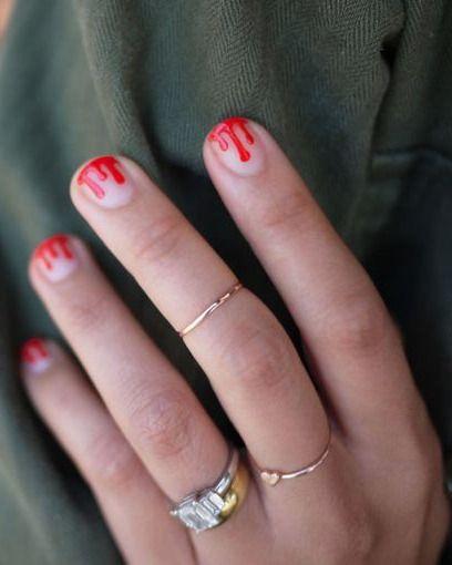 Mani Monday: DIY Blood Drip Nails #halloween
