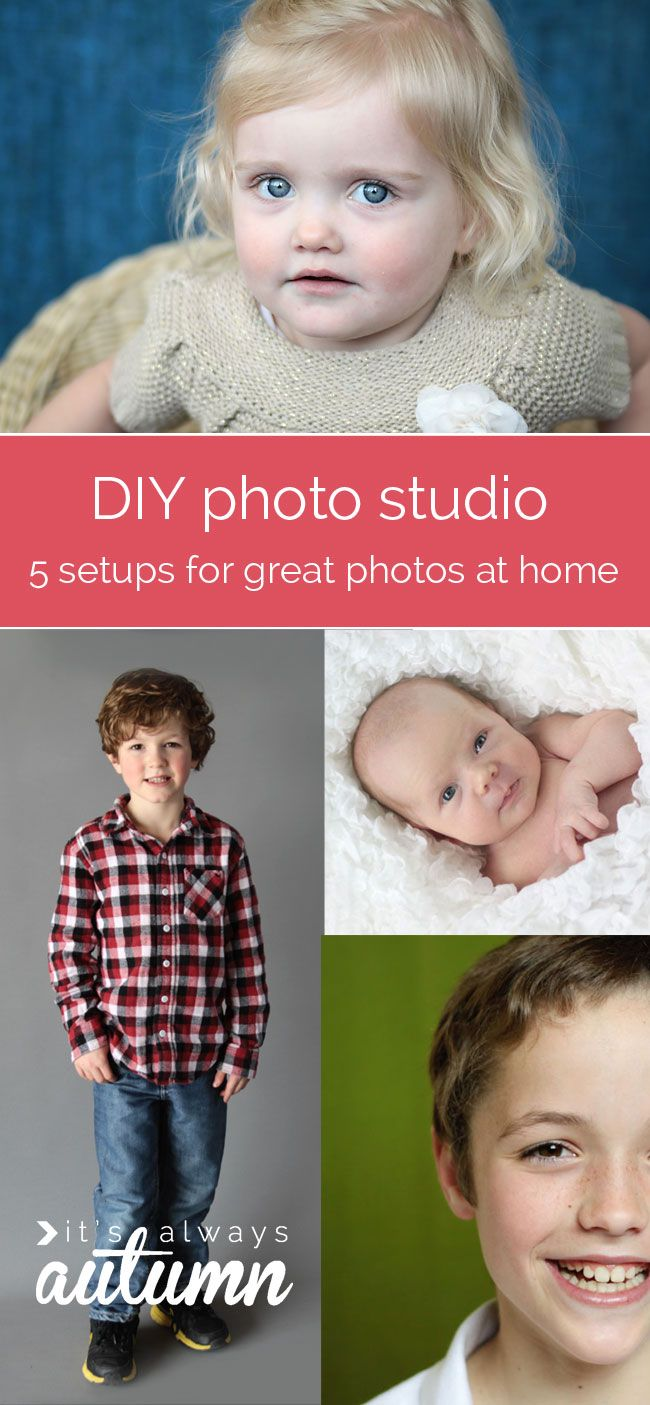 learn how to set up a DIY photo studio at home and get great pictures of your kids