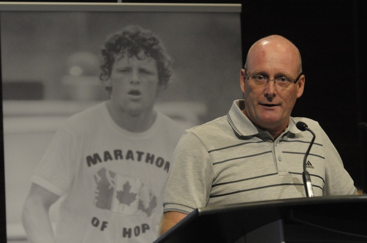 Steve Ralph, President of adidas Canada, marks the 30th anniversary of Terry Fox's Marathon of Hope.