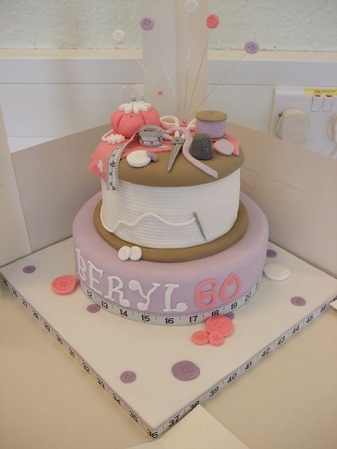 Sewing Cake by trulycrumbtious, via Flickr