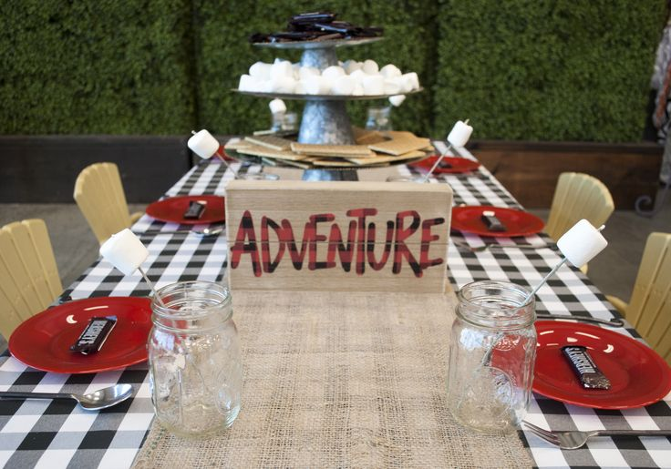 6 Steps to Throw a Woodsy Lumberjack Party | Camping theme, plaid + burlap | Celebrations! Party Rentals and Tents