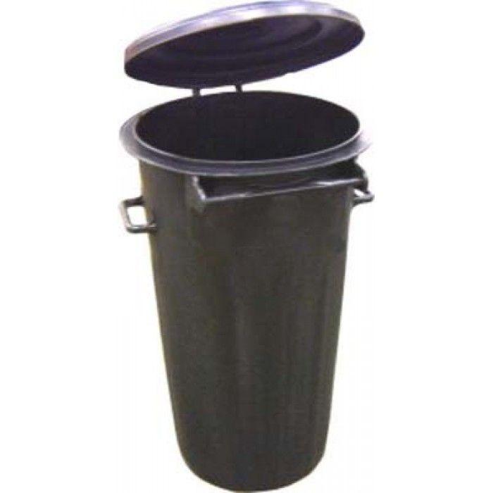 Raccoglitore rifiuti plastica 80 lt